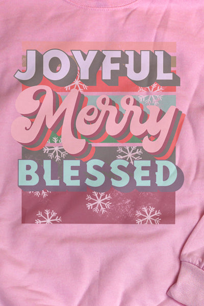Joyful Merry Blessed Retro Unisex NuBlend Crew Sweatshirt