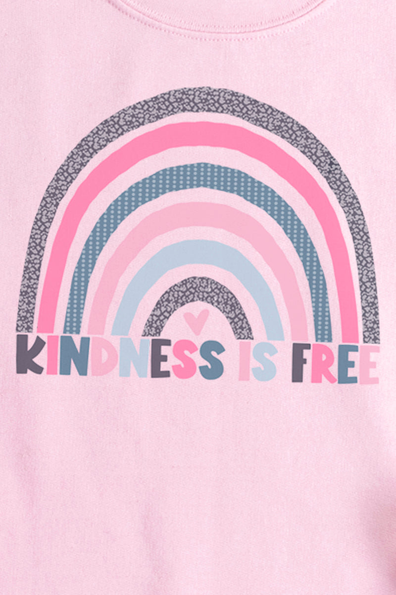 Kindness Is Free Rainbow Unisex NuBlend Crew Sweatshirt