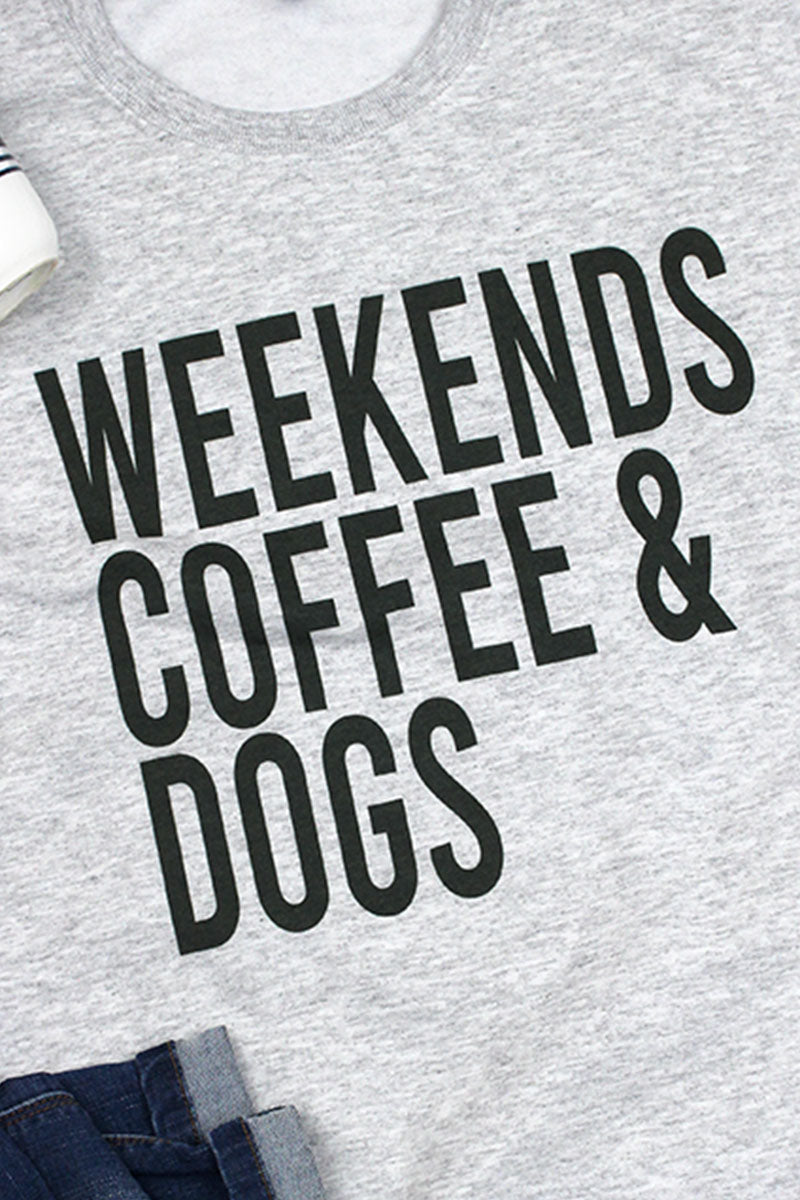 Weekends Coffee Dogs Unisex NuBlend Crew Sweatshirt