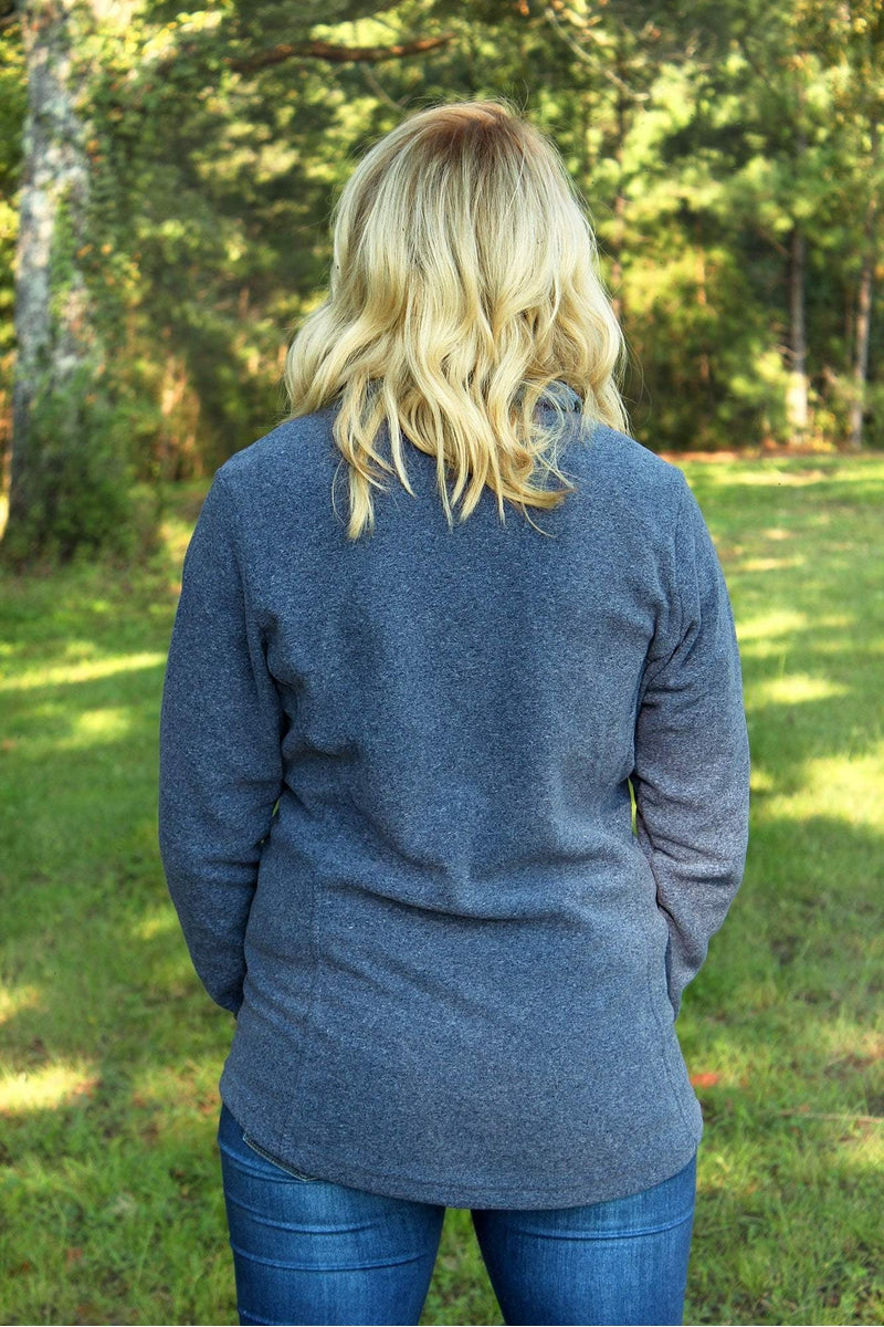 Charles River Women's Bayview Fleece Pullover, Medium Blue Heather *Personalize It! (Wholesale Pricing N/A)