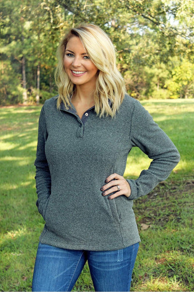 Charles River Women's Bayview Fleece Pullover, Steel Heather *Personalize It! (Wholesale Pricing N/A)