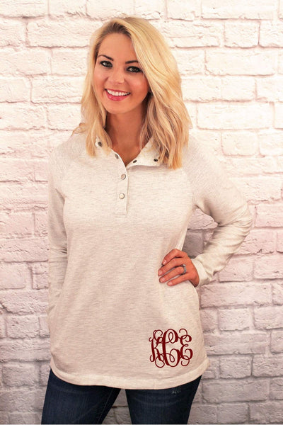 Charles River Women's Ivory Heather Falmouth Pullover *Personalize It! (Wholesale Pricing N/A)