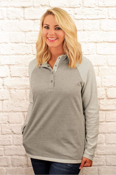 Charles River Women's Heather Gray Falmouth Pullover *Personalize It! (Wholesale Pricing N/A)