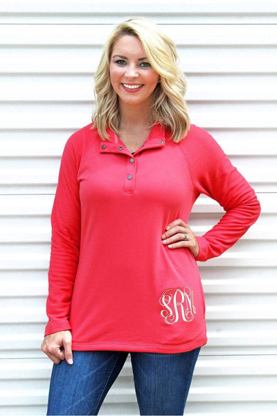 Charles River Women's Salmon Falmouth Pullover #5826 *Personalize It! (Wholesale Pricing N/A) (PLEASE ALLOW 3-5 BUSINESS DAYS. EXPEDITED SHIPPING N/A)