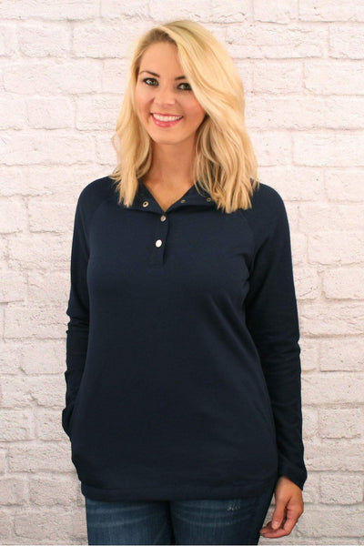 Charles River Women's Navy Falmouth Pullover *Personalize It! (Wholesale Pricing N/A)