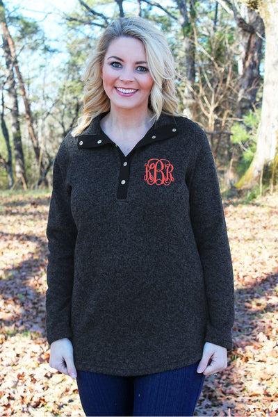 Charles River Women's Hingham Tunic, Black Heather *Personalize It! (Wholesale Pricing N/A)