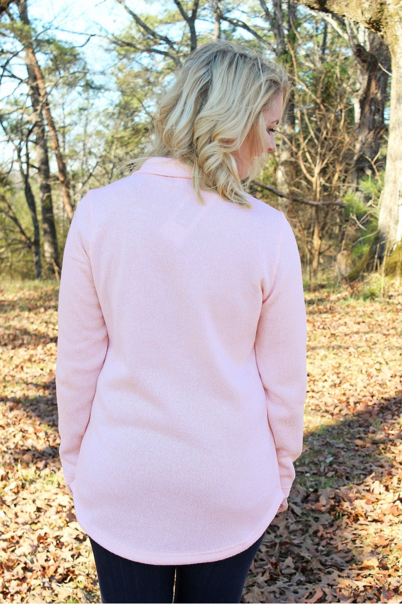 Charles River Women's Hingham Tunic, Pink Pale Heather *Personalize It! (Wholesale Pricing N/A)