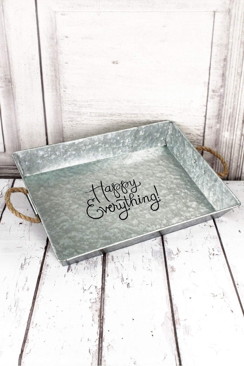Happy Everything Galvanized Metal Serving Tray #59666