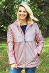 Charles River Women's New Englander Rose Gold with Plaid Lining Rain Jacket *Customizable! (Wholesale Pricing N/A)