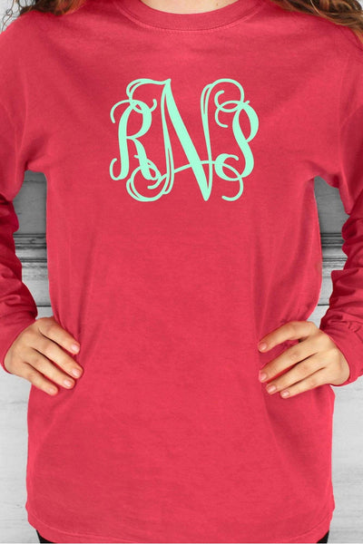 Shades of Red/Orange Comfort Colors Long Sleeve T-Shirt