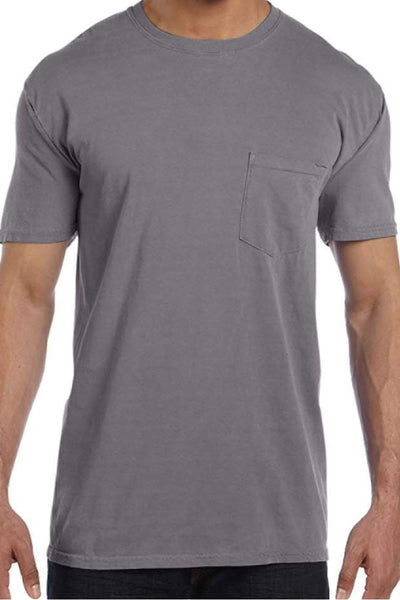 Shades of Neutral Comfort Colors Adult Ring-Spun Cotton Pocket Tee *Personalize It