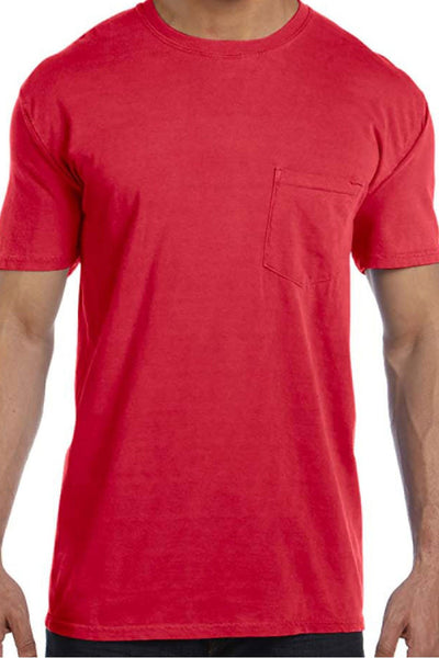 Shades of Red/Orange Comfort Colors Adult Ring-Spun Cotton Pocket Tee *Personalize It