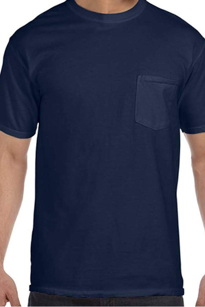 Shades of Blue Comfort Colors Adult Ring-Spun Cotton Pocket Tee *Personalize It