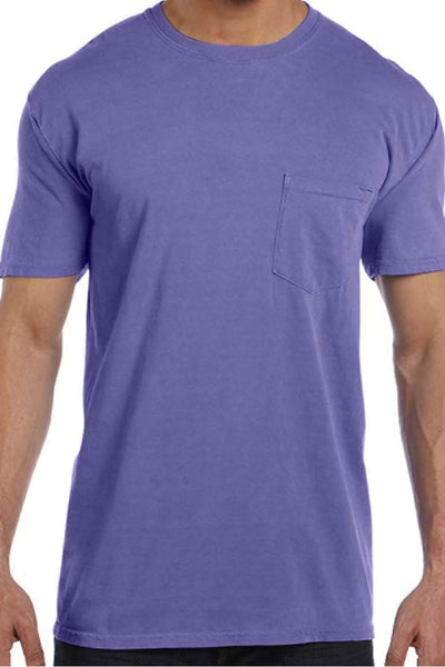 Shades of Pink/Purple Comfort Colors Adult Ring-Spun Cotton Pocket Tee *Personalize It