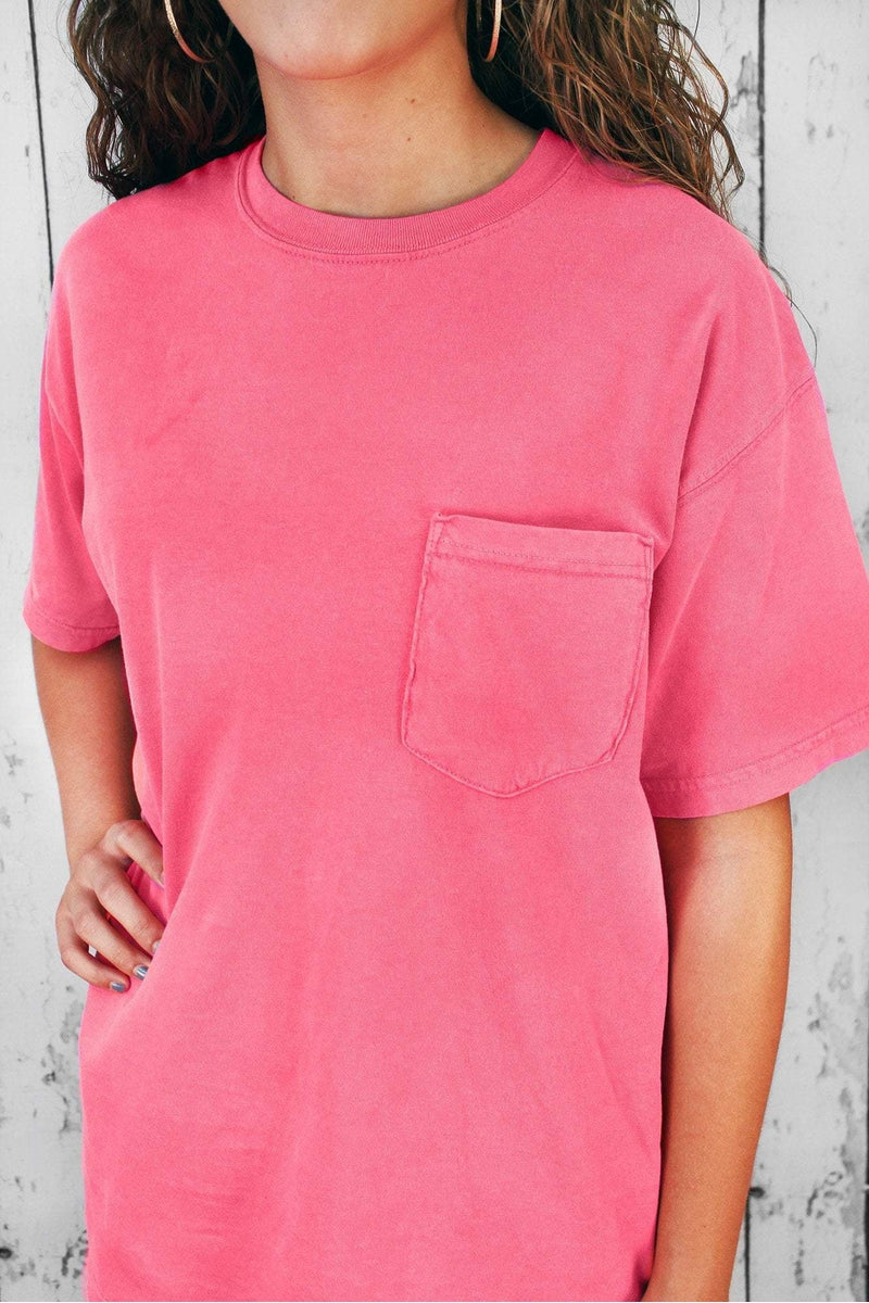 Shades of Pink/Purple Comfort Colors Cotton Pocket Tee #6030 ...