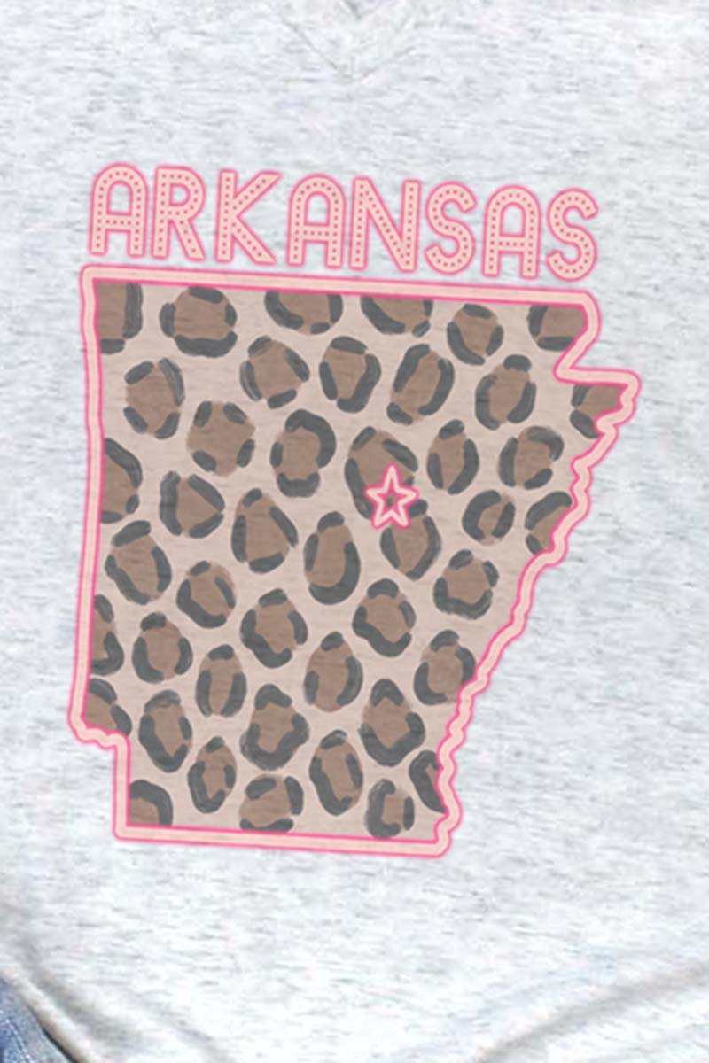 Neon Arkansas Tri-Blend V Neck Tee