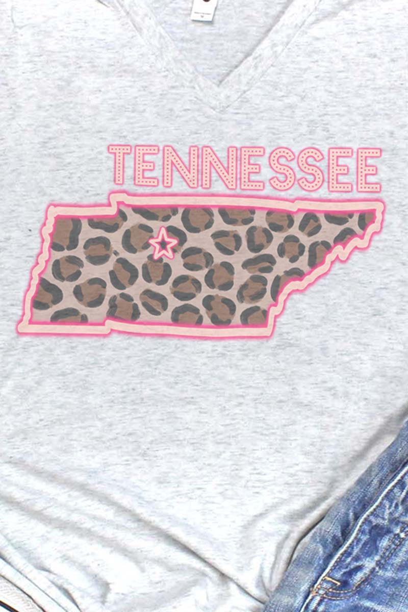 Neon Tennessee Tri-Blend V Neck Tee