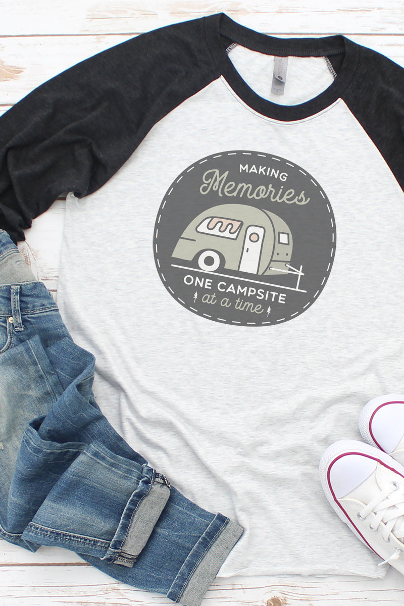 Making Memories Campsite Tri-Blend Unisex 3/4 Raglan