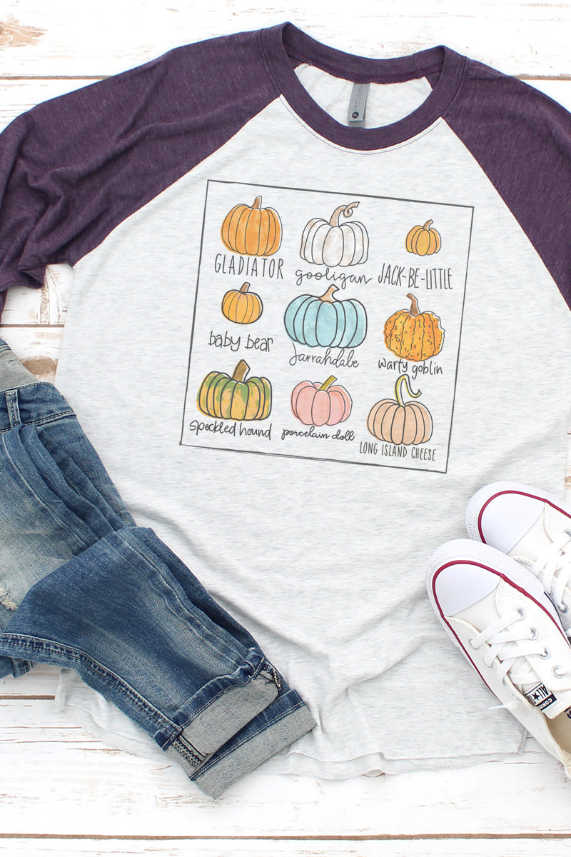 Pick Your Pumpkin Tri-Blend Unisex 3/4 Raglan