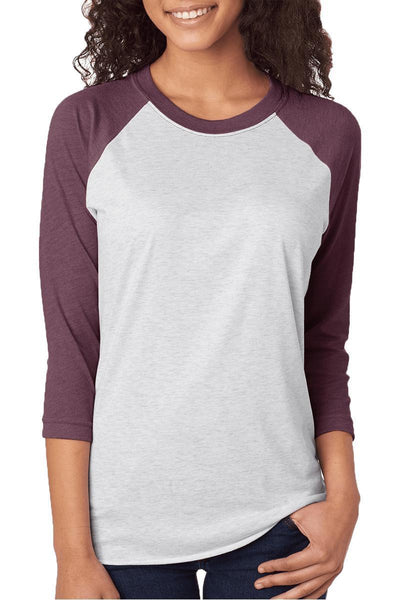 Well Sheet Tri-Blend Unisex 3/4 Raglan