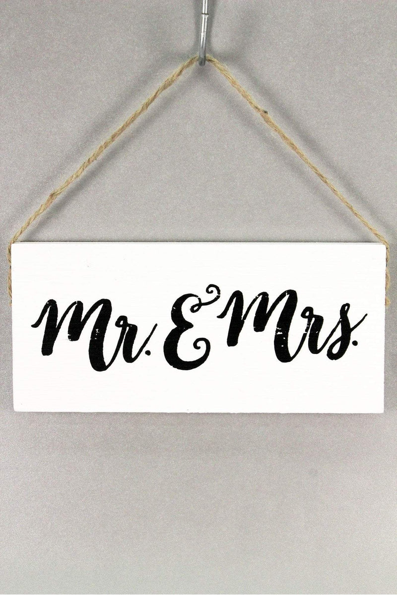 Mr. & Mrs. White Wooden Sign #60952