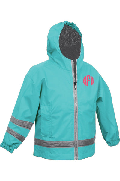 Charles River Toddler New Englander Aqua Rain Jacket #6099 *Customizable! (Wholesale Pricing N/A.. PLEASE ALLOW 3-5 BUSINESS DAYS.. EXPEDITED SHIPPING N/A) - Wholesale Accessory Market