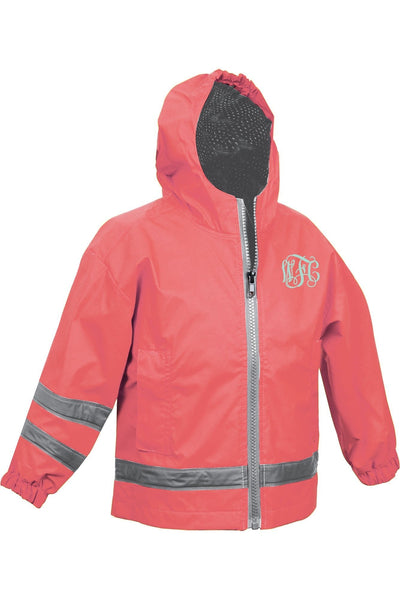 Charles River Toddler New Englander Coral Rain Jacket #6099 *Customizable!