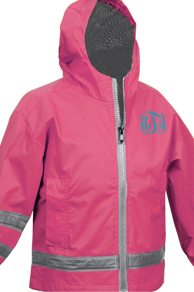 Charles River Toddler New Englander Hot Pink Rain Jacket *Customizable! (Wholesale Pricing N/A)