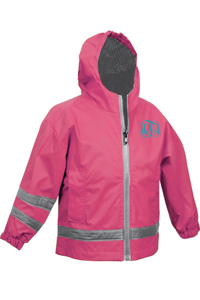 Charles River Toddler New Englander Hot Pink Rain Jacket #6099 *Customizable!