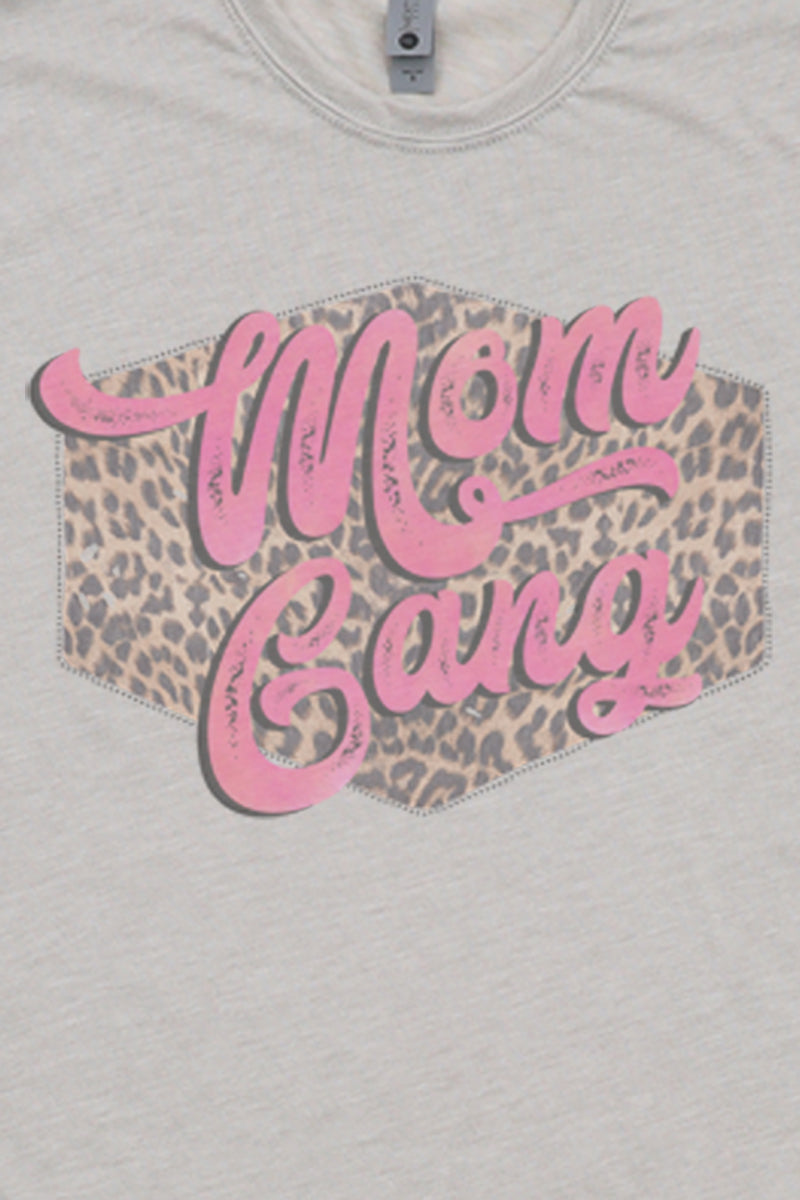 Pink Mom Gang Poly/Cotton Tee