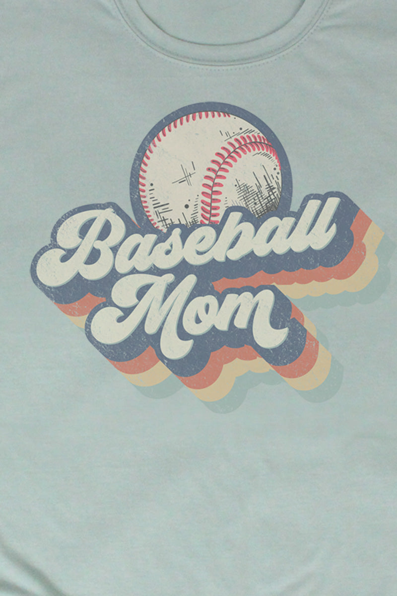 Retro Baseball Mom Poly/Cotton Tee