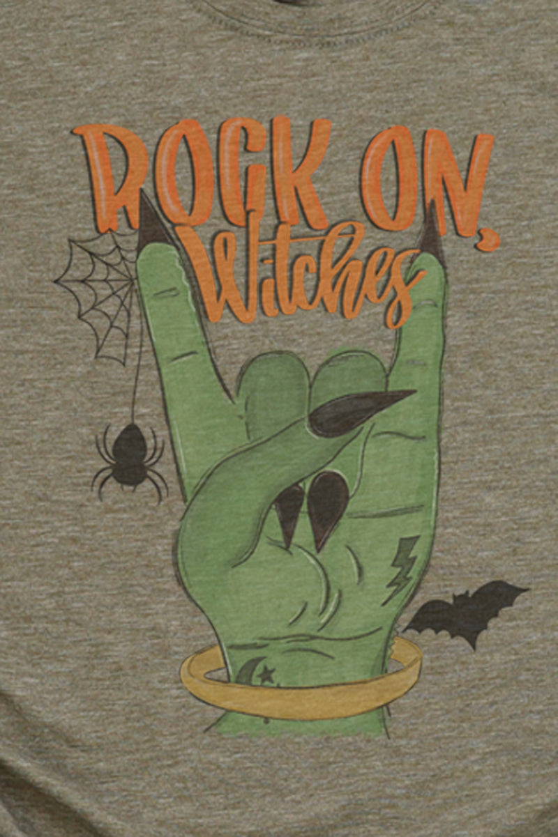 Rock On Witches Poly/Cotton Tee