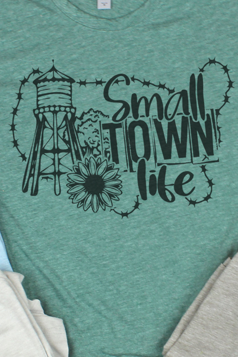 Small Town Life Poly/Cotton Tee