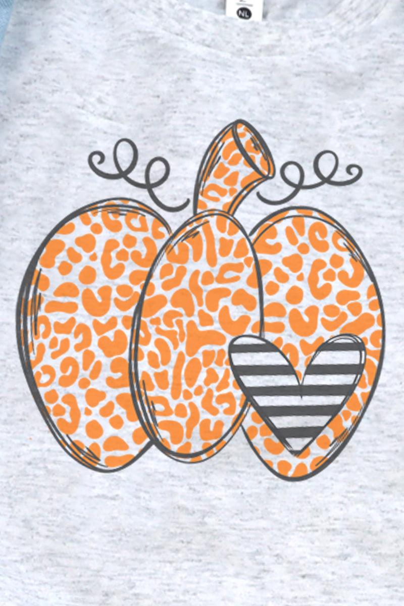Youth Spotted Pumpkin Heart Tri-Blend Tee