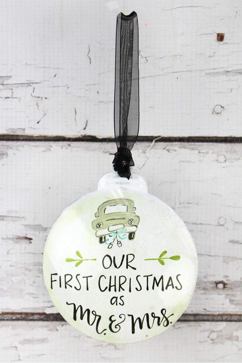 5 x 4.25 Our First Christmas As Mr. & Mrs. Ornament