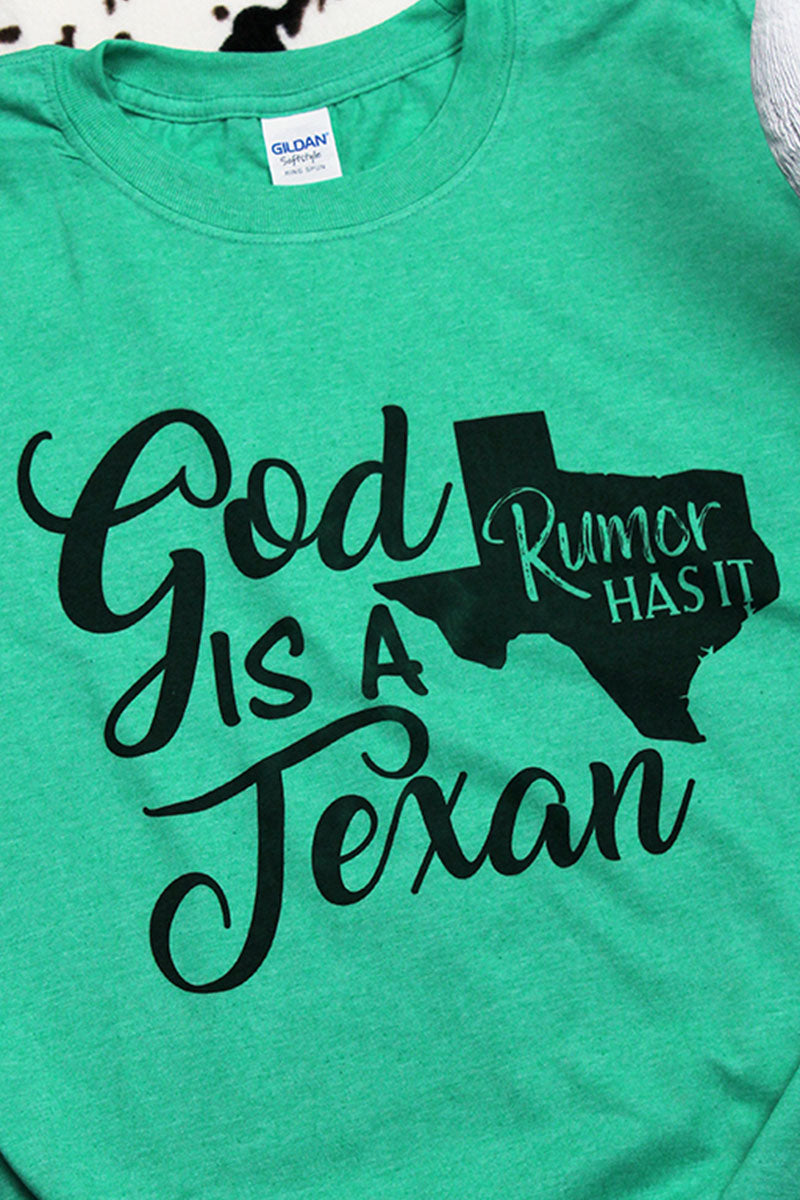 God Is A Texan Softstyle Adult T-Shirt