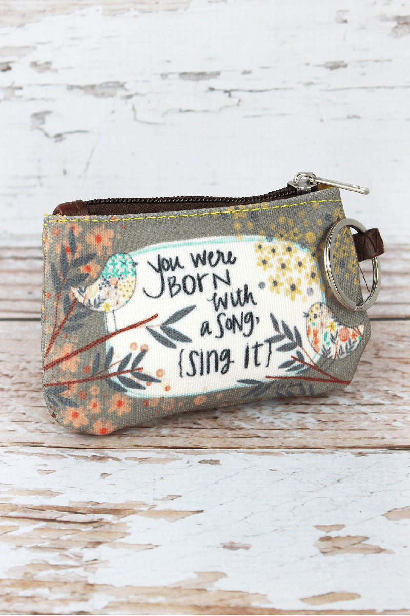 Born With A Song ID Wallet Keychain