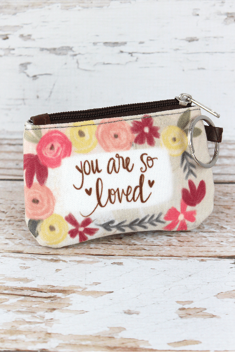 You Are So Loved ID Wallet Keychain