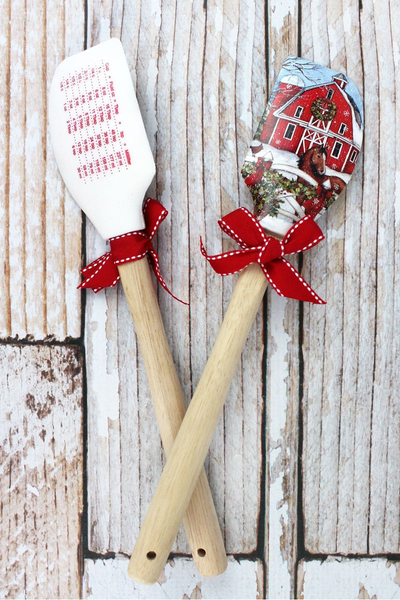 One Barn with Horse Christmas Silicone Spatula
