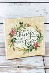 8 x 8 'Great Love' Canvas Box Sign