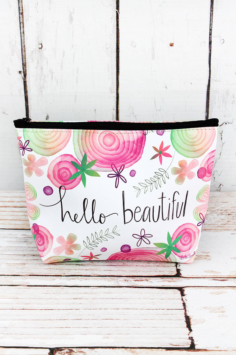 Hello Beautiful Cosmetic Bag