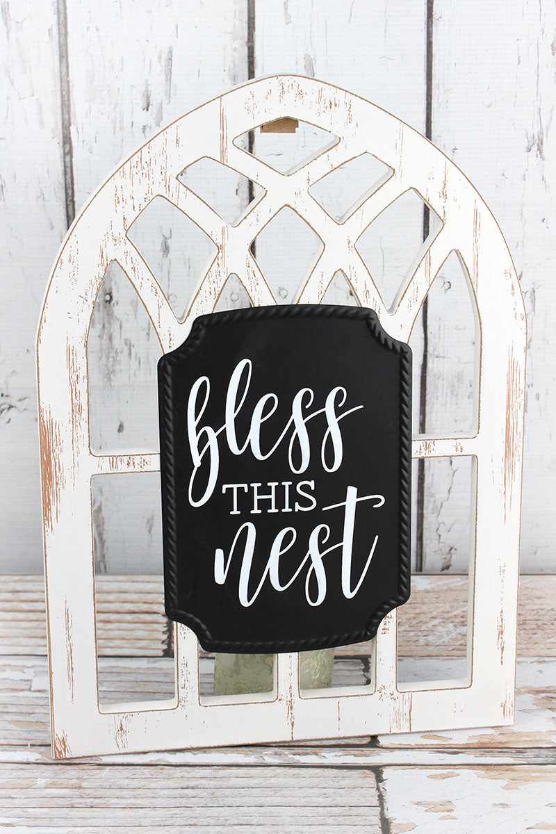 15.5 x 11 Bless This Nest Arched Window Sign