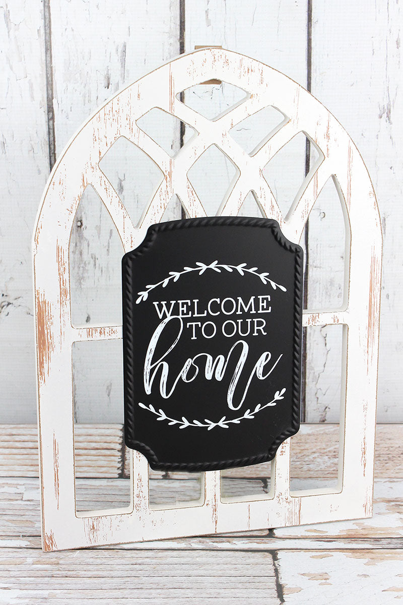 15.5 x 11 Welcome To Our Home Arched Window Sign