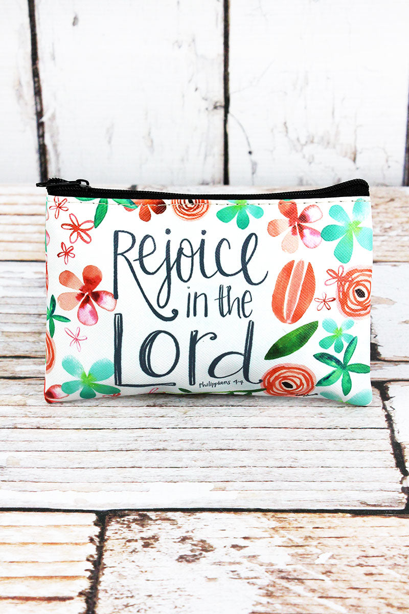 Rejoice In The Lord Zippered Coin Purse