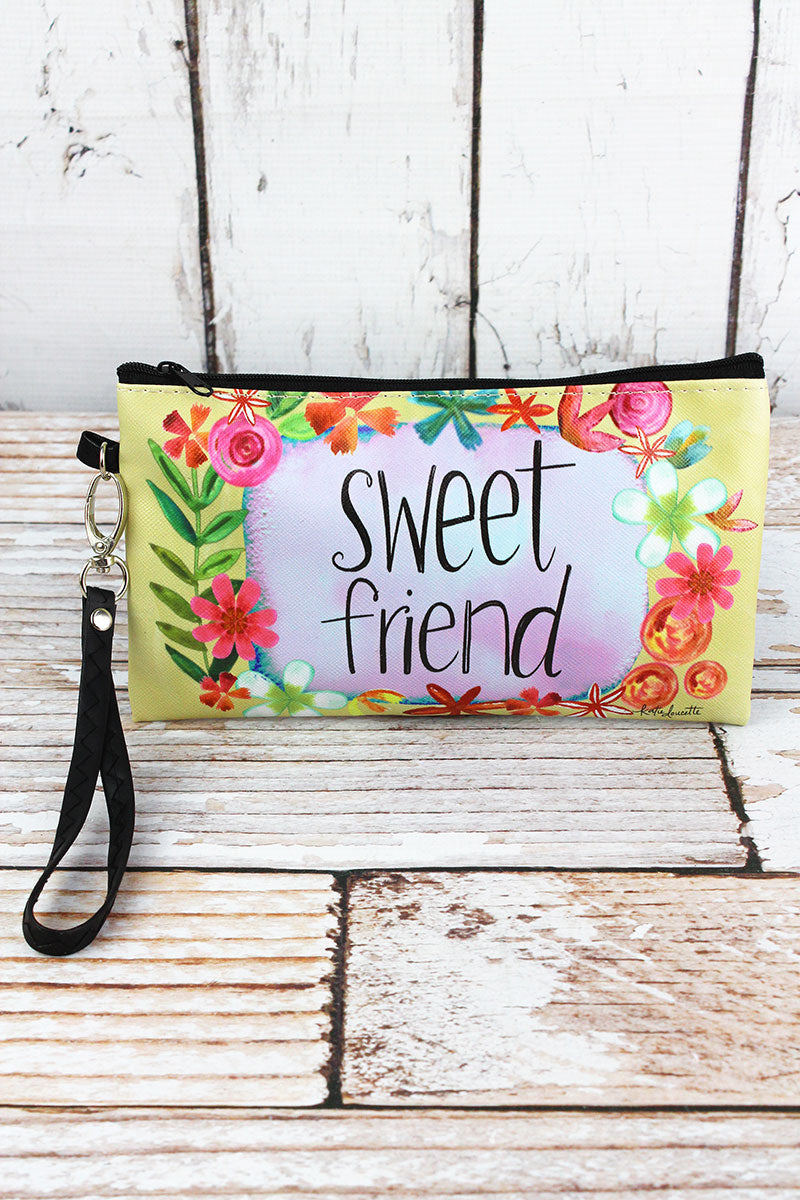 Sweet Friend Zippered Pouch