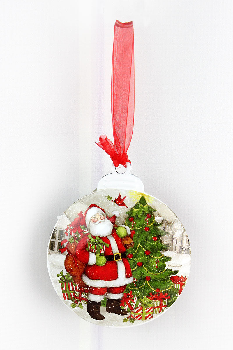 5 x 4.25 Christmas Santa Ornament