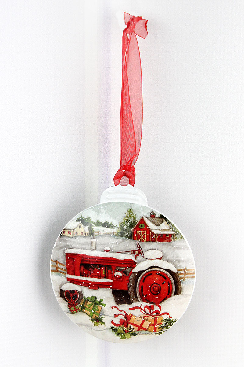 5 x 4.25 Christmas On The Farm Ornament