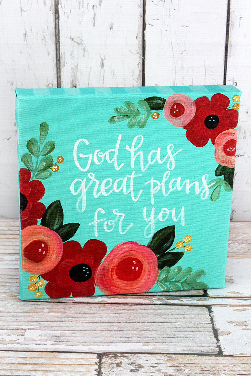 10 x 10 'God Has Great Plans For You' Canvas Sign