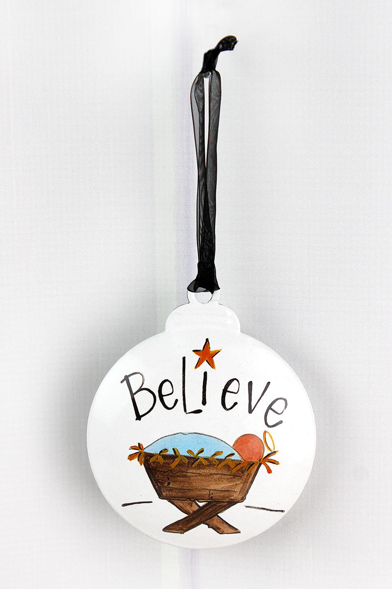 5 x 4.25 Believe Ornament