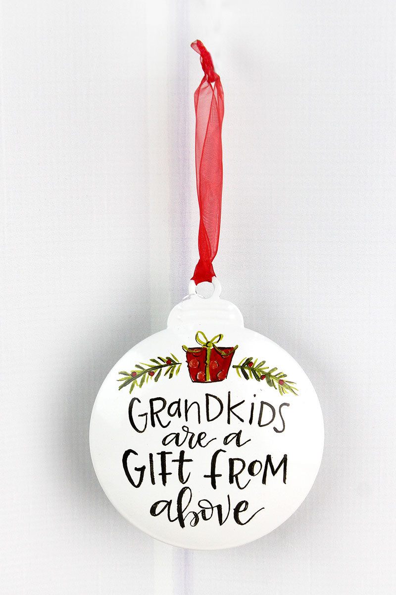 5 x 4.25 Grandkids Are A Gift From Above Ornament